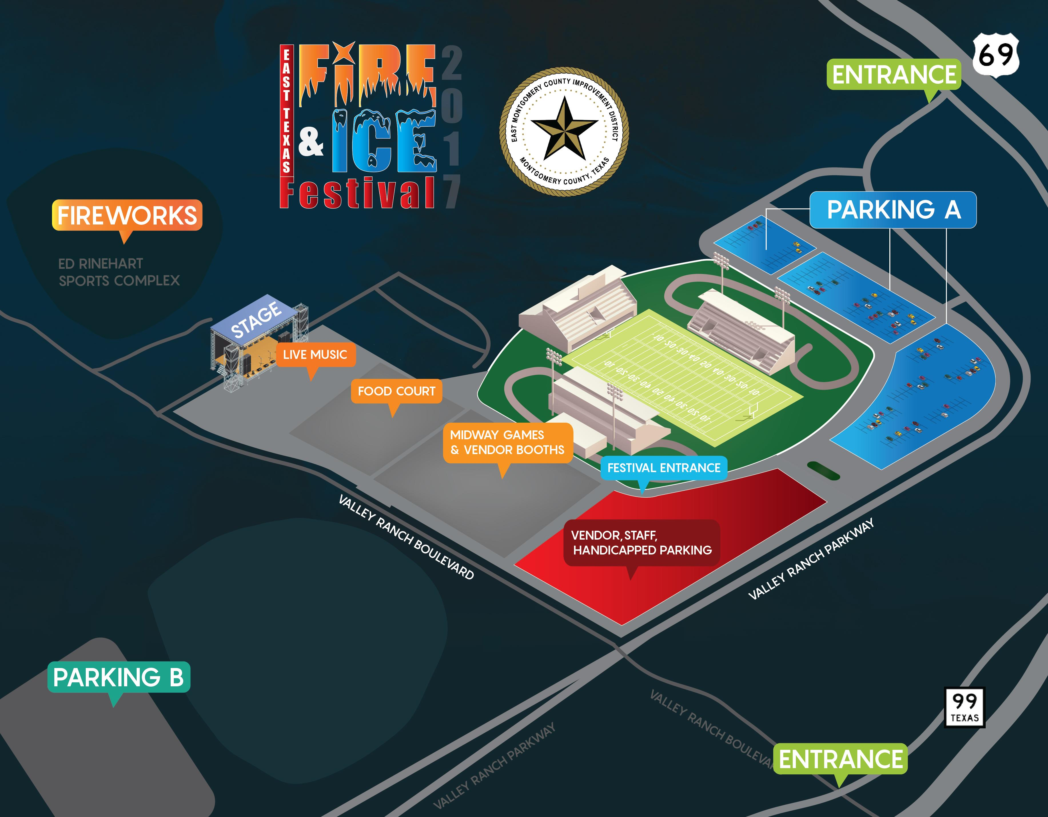 Fire and Ice Festival Map